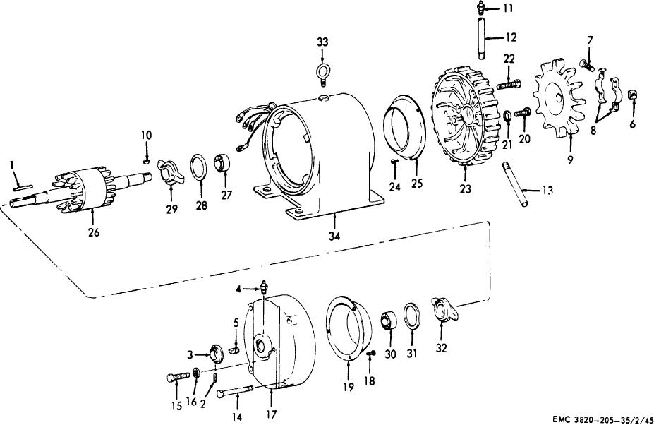 figure 36  electric motor assembly  exploded view